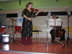 Juilliard Students play Duo in Anatolian Primary School, 2006